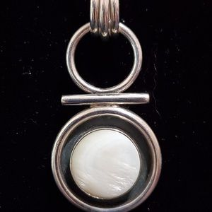 Silpada Mother of Pearl Sterling Pendant RARE HTF